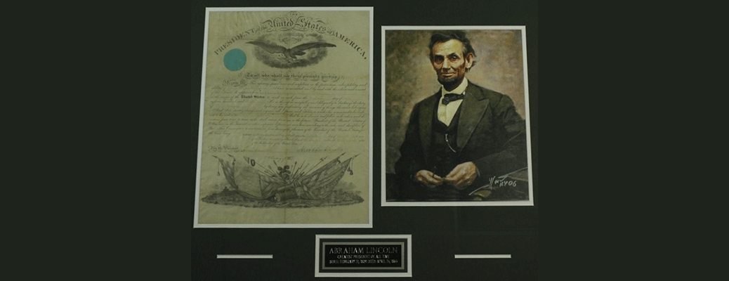 President Abraham Lincoln Signed Original 1861 Document