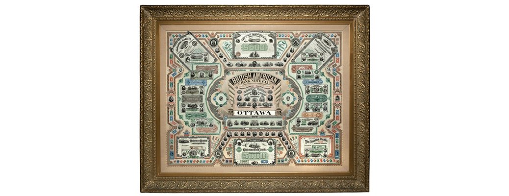 British american banknote company original (foyer display)