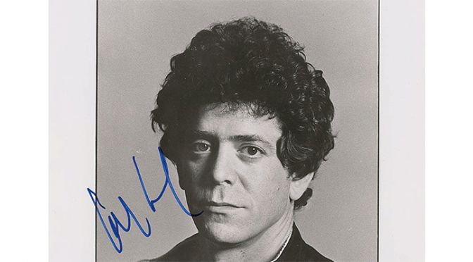 The tour gear of legend Lou Reed will be available to collectors.