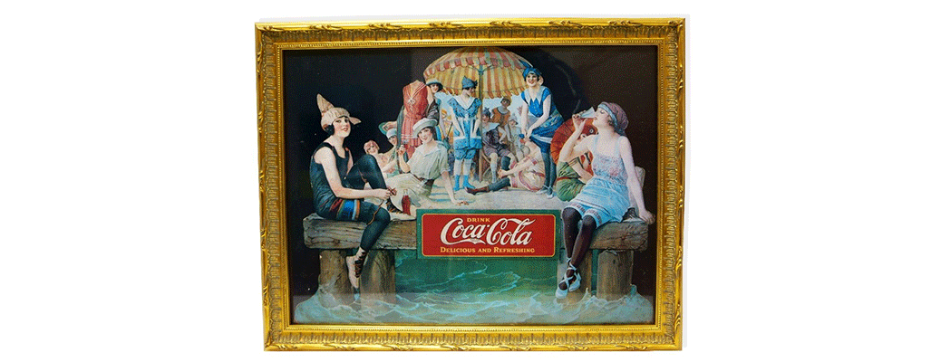 Museum Framed Coca-Cola Advertising