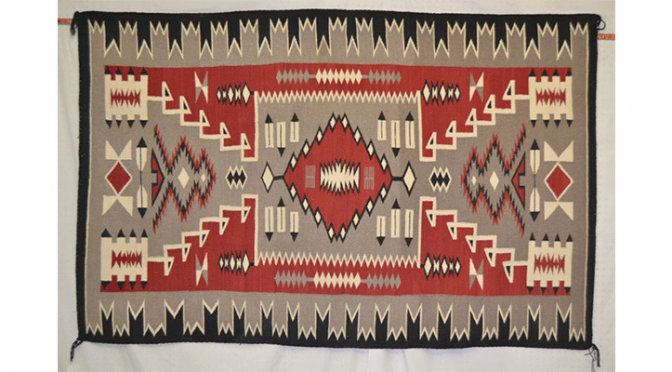 hand woven storm pattern - Navajo Textitle