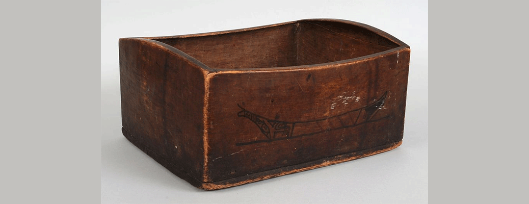 Kagani Haida Bent Wood Storage Box