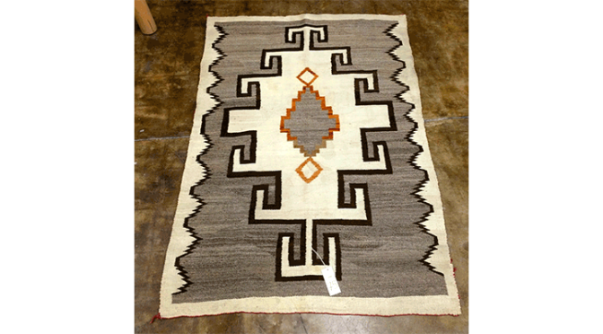 This Vintage Navajo Textile is circa 1940