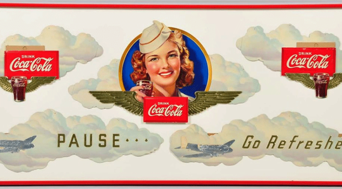 1941 Coca-Cola Rare Aviation Festoon