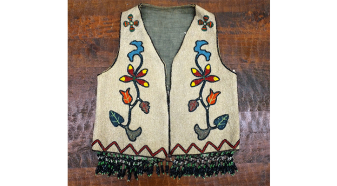 Antique Fully Beaded Indian Vest