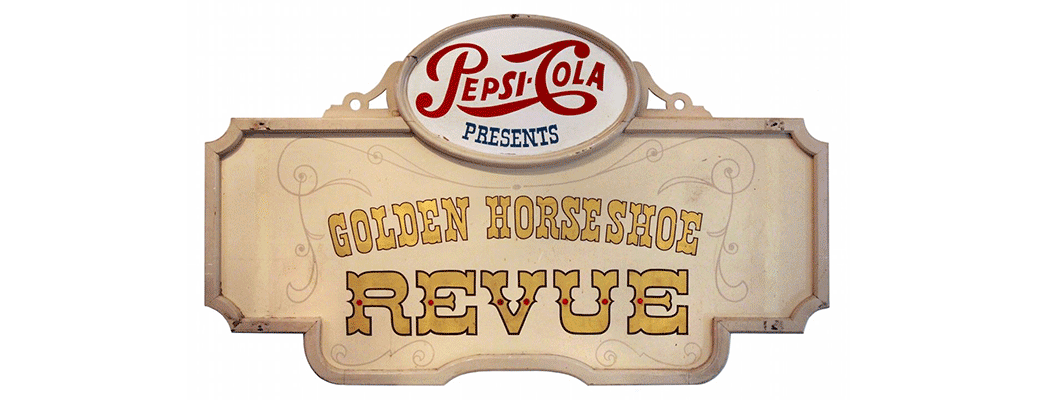 Original Golden Horseshoe Revue marquee sign