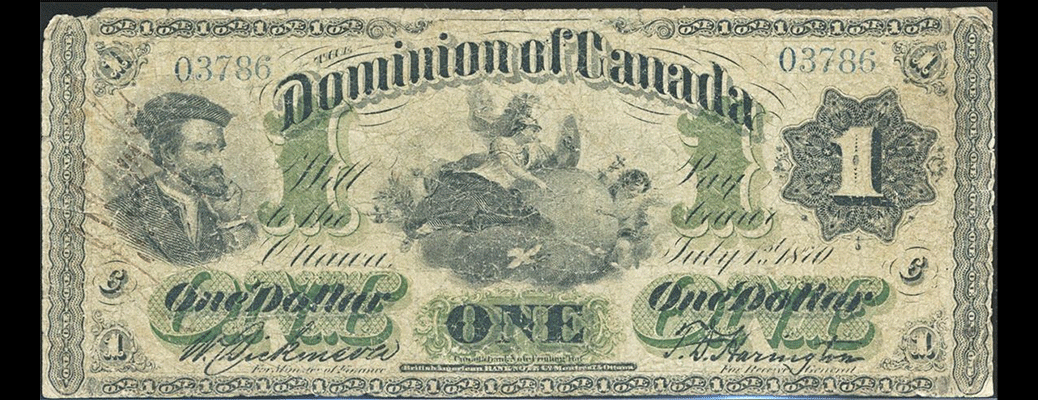 1870 $1 DC-2e #03786C 'Payable at Victoria'