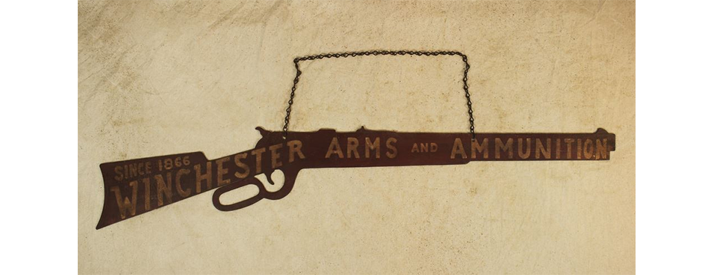 Winchester Hanging Metal Sign