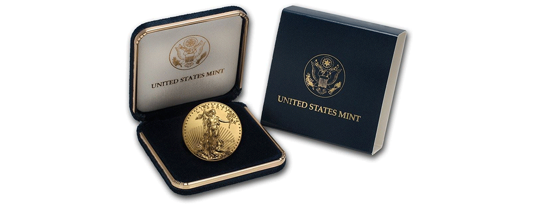 2015 1 oz Gold American Eagle BU (W/U.S. Mint Box)