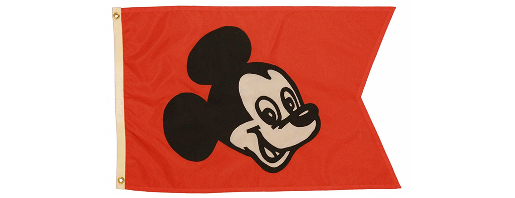 MICKEY MOUSE Entrance Flag 1970