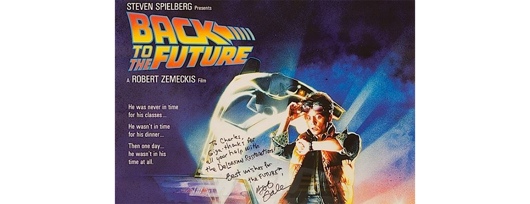 Back To The Future - Autographed Poster & Letter From Bob Gale