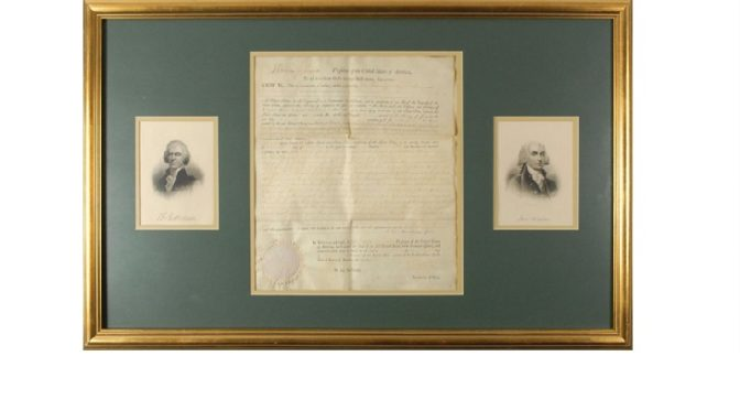 Fine Autograph and Artifact Auction Catalog Up for Viewing Until May 11th